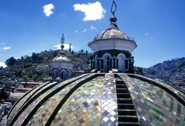 die koloniale Altstadt Quitos